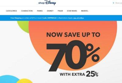 shopDisney Coupon : 노오오오력과 꿈. 디즈니 70% 세일 + 25% 추가 할인 쿠폰